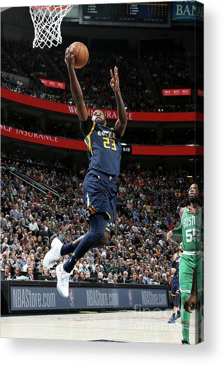 Nba Pro Basketball Acrylic Print featuring the photograph Royce O'neale by Melissa Majchrzak