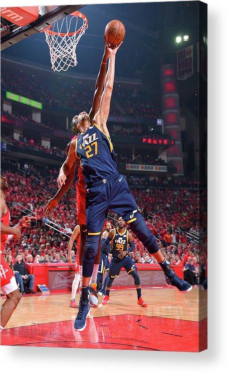 Playoffs Acrylic Print featuring the photograph Rudy Gobert by Bill Baptist