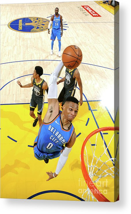 Nba Pro Basketball Acrylic Print featuring the photograph Russell Westbrook by Noah Graham