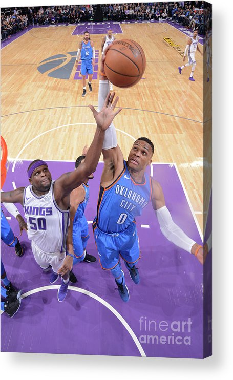 Nba Pro Basketball Acrylic Print featuring the photograph Russell Westbrook by Rocky Widner
