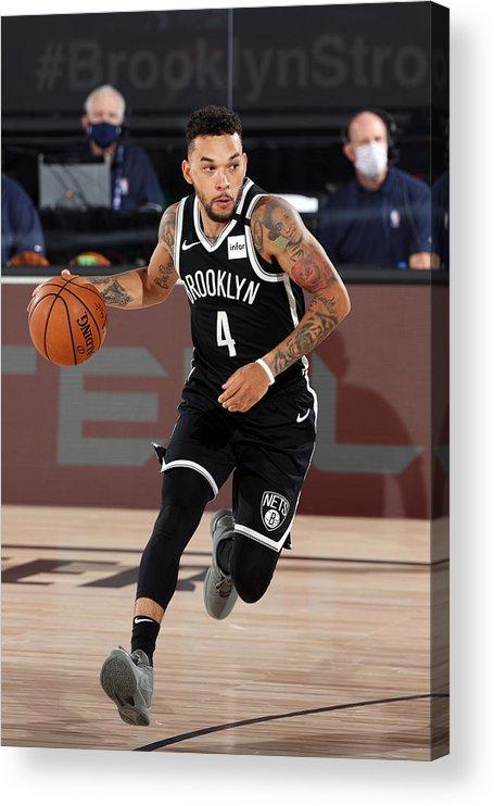 Nba Pro Basketball Acrylic Print featuring the photograph Sacramento Kings v Brooklyn Nets by David Sherman
