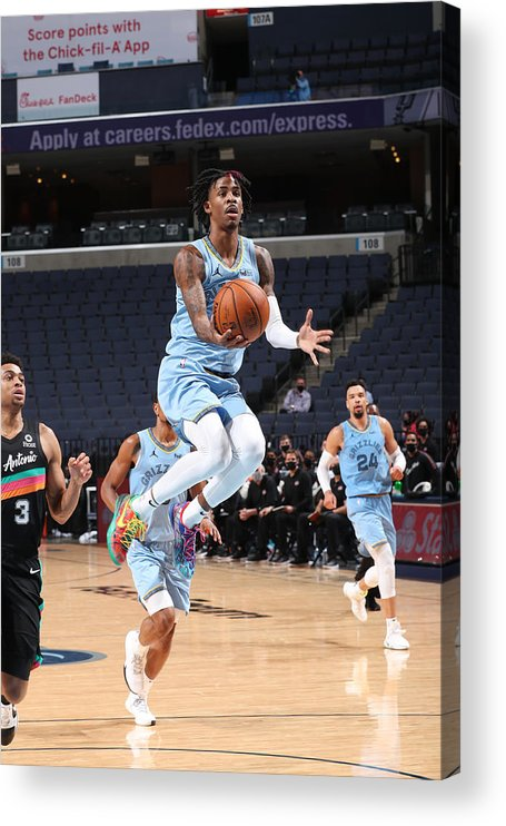 Nba Pro Basketball Acrylic Print featuring the photograph San Antonio Spurs v Memphis Grizzlies by Joe Murphy