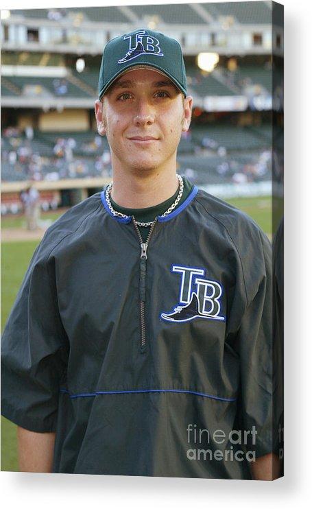 American League Baseball Acrylic Print featuring the photograph Scott Kazmir by Don Smith