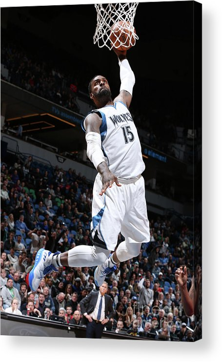 Nba Pro Basketball Acrylic Print featuring the photograph Shabazz Muhammad by David Sherman