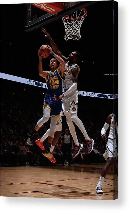 Nba Pro Basketball Acrylic Print featuring the photograph Stephen Curry by Bart Young