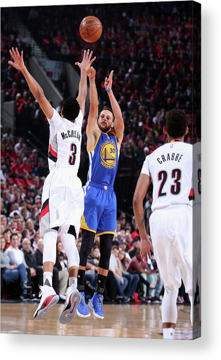 Playoffs Acrylic Print featuring the photograph Stephen Curry by Sam Forencich