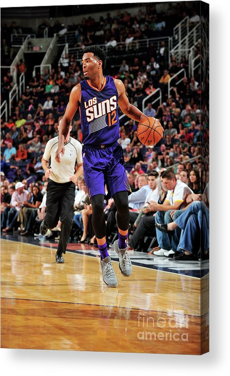 Nba Pro Basketball Acrylic Print featuring the photograph T.j. Warren by Barry Gossage