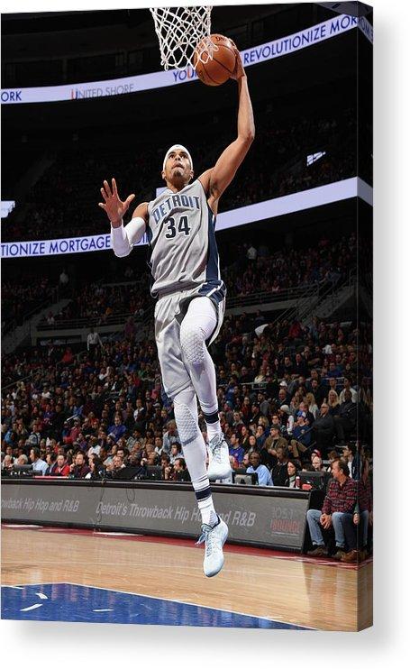 Nba Pro Basketball Acrylic Print featuring the photograph Tobias Harris by Chris Schwegler
