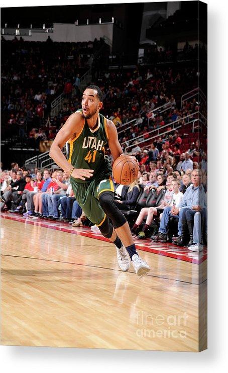 Nba Pro Basketball Acrylic Print featuring the photograph Trey Lyles by Bill Baptist