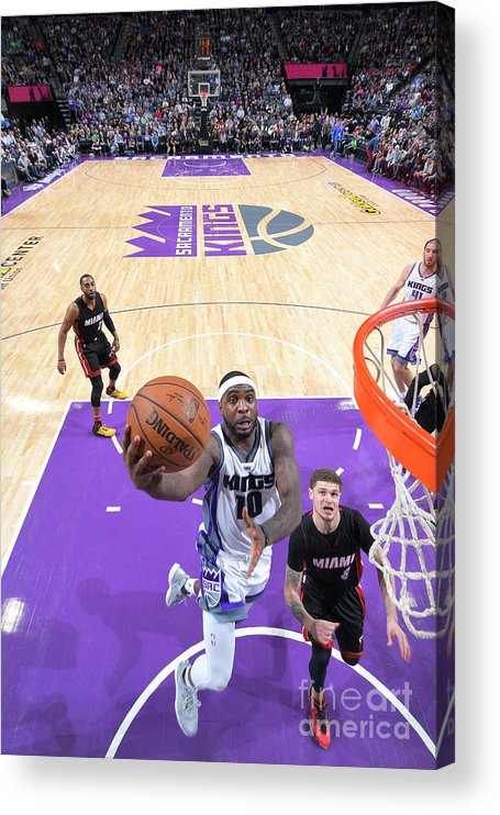 Nba Pro Basketball Acrylic Print featuring the photograph Ty Lawson by Rocky Widner