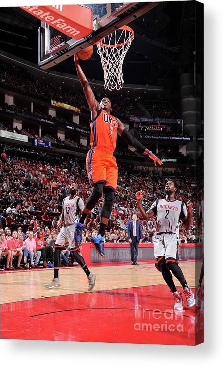 Nba Pro Basketball Acrylic Print featuring the photograph Victor Oladipo by Bill Baptist