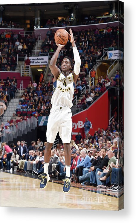 Nba Pro Basketball Acrylic Print featuring the photograph Victor Oladipo by David Liam Kyle