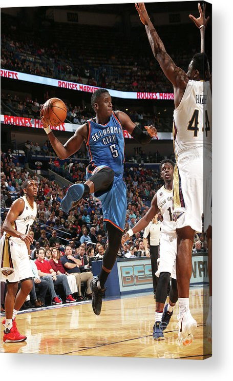 Smoothie King Center Acrylic Print featuring the photograph Victor Oladipo by Layne Murdoch
