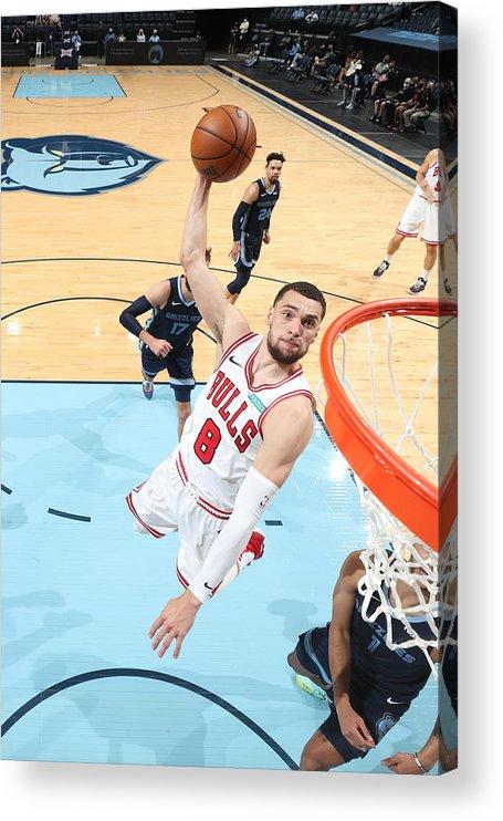 Nba Pro Basketball Acrylic Print featuring the photograph Zach Lavine by Joe Murphy