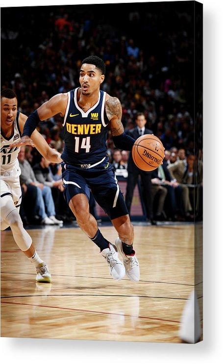 Nba Pro Basketball Acrylic Print featuring the photograph Gary Harris by Garrett Ellwood