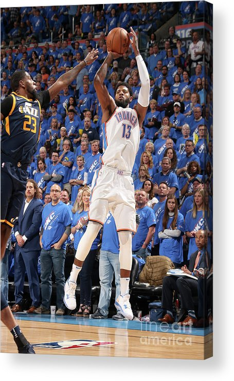 Playoffs Acrylic Print featuring the photograph Paul George by Layne Murdoch