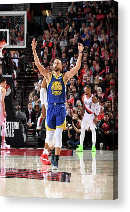 Nba Pro Basketball Acrylic Print featuring the photograph Stephen Curry by Andrew D. Bernstein