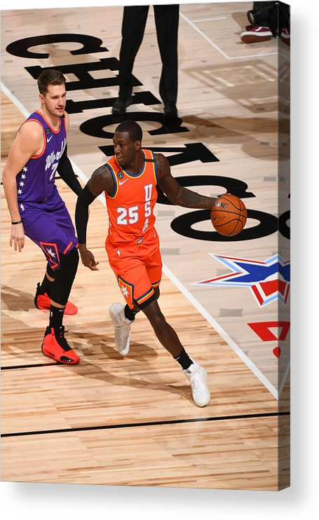 Nba Pro Basketball Acrylic Print featuring the photograph 2020 NBA All-Star - Rising Stars Game by Garrett Ellwood