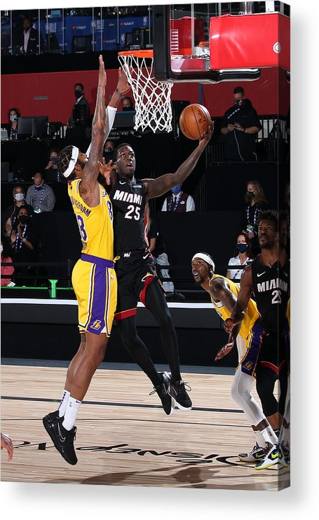 Playoffs Acrylic Print featuring the photograph 2020 NBA Finals - Los Angeles Lakers v Miami Heat by Nathaniel S. Butler