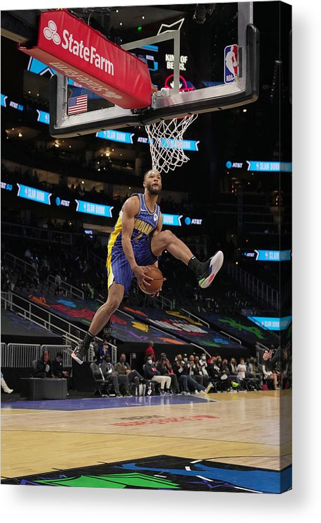 Atlanta Acrylic Print featuring the photograph 2021 NBA All-Star - AT&T Slam Dunk Contest by Jesse D. Garrabrant