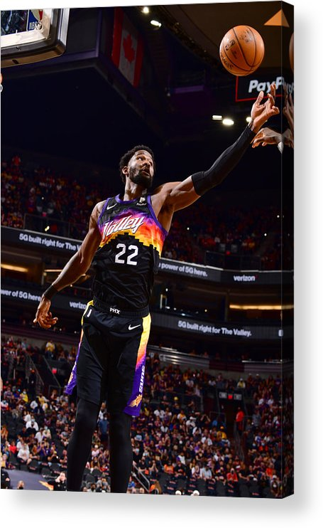Playoffs Acrylic Print featuring the photograph 2021 NBA Playoffs - Los Angeles Lakers v Phoenix Suns by Barry Gossage