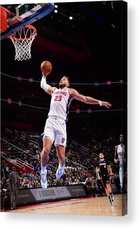 Nba Pro Basketball Acrylic Print featuring the photograph Blake Griffin by Chris Schwegler