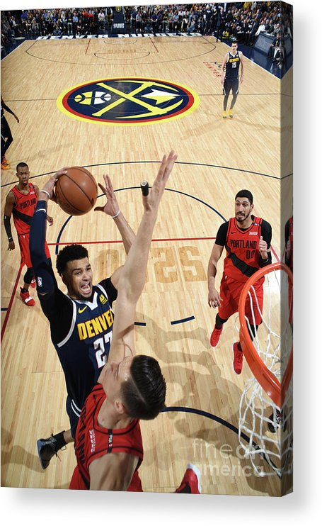 Playoffs Acrylic Print featuring the photograph Jamal Murray by Garrett Ellwood