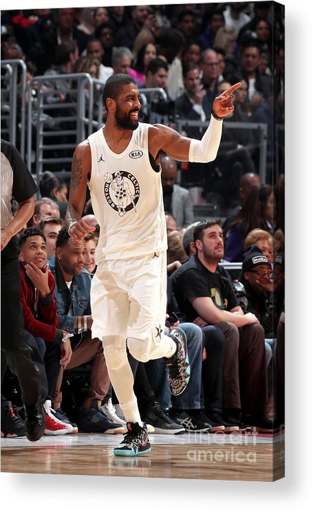 Nba Pro Basketball Acrylic Print featuring the photograph Kyrie Irving by Nathaniel S. Butler