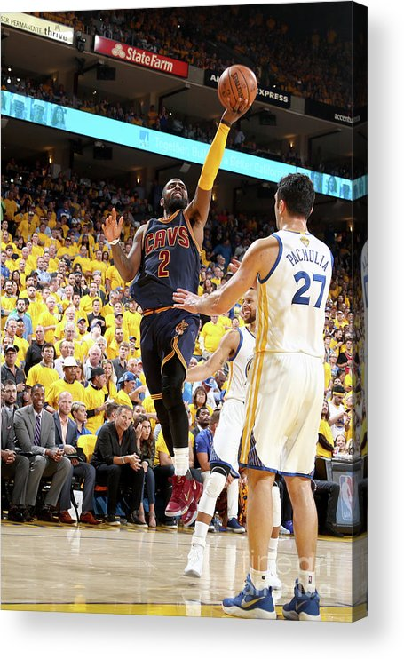 Playoffs Acrylic Print featuring the photograph Kyrie Irving by Nathaniel S. Butler