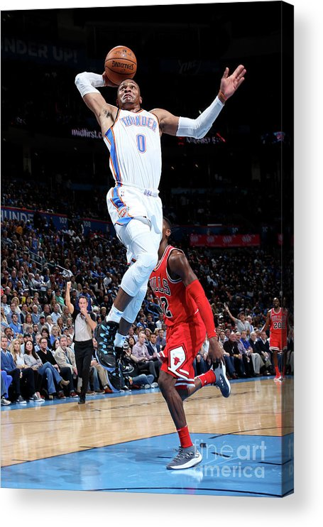 Nba Pro Basketball Acrylic Print featuring the photograph Russell Westbrook by Layne Murdoch