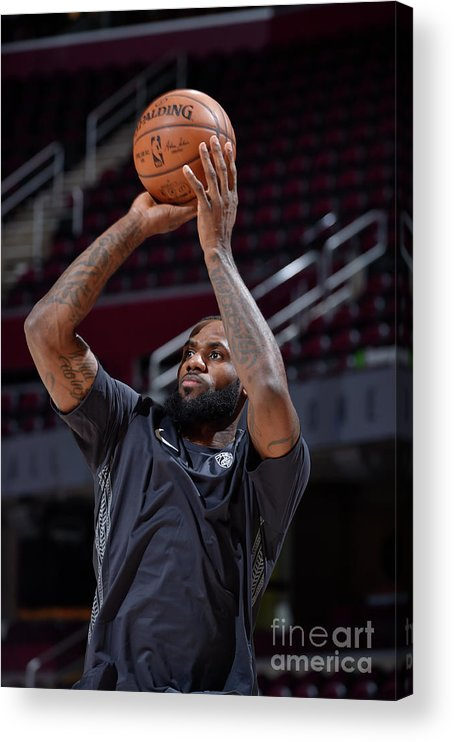 Nba Pro Basketball Acrylic Print featuring the photograph Lebron James by David Liam Kyle