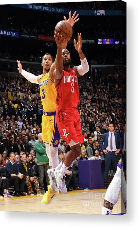 Nba Pro Basketball Acrylic Print featuring the photograph Chris Paul by Andrew D. Bernstein