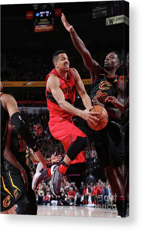 Sports Ball Acrylic Print featuring the photograph C.j. Mccollum by Sam Forencich