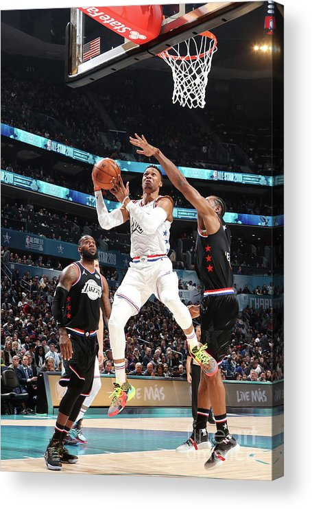 Nba Pro Basketball Acrylic Print featuring the photograph Russell Westbrook by Nathaniel S. Butler