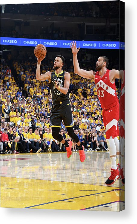 Playoffs Acrylic Print featuring the photograph Stephen Curry by Andrew D. Bernstein