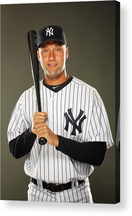 Media Day Acrylic Print featuring the photograph Derek Jeter by Al Bello