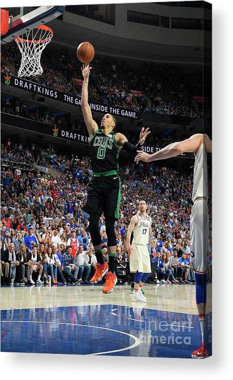 Playoffs Acrylic Print featuring the photograph Jayson Tatum by Brian Babineau