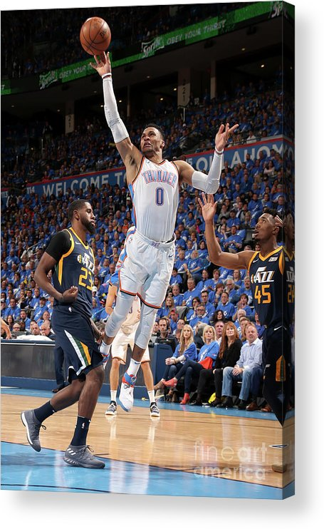 Playoffs Acrylic Print featuring the photograph Russell Westbrook by Layne Murdoch
