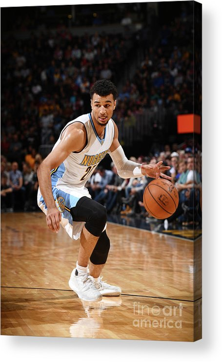 Nba Pro Basketball Acrylic Print featuring the photograph Jamal Murray by Garrett Ellwood