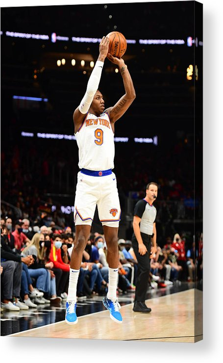 Atlanta Acrylic Print featuring the photograph 2021 NBA Playoffs - New York Knicks v Atlanta Hawks by Scott Cunningham