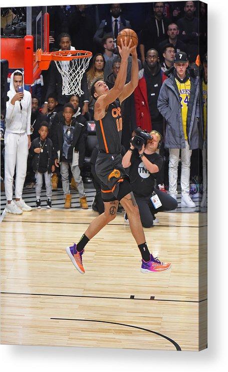 Nba Pro Basketball Acrylic Print featuring the photograph Aaron Gordon by Bill Baptist