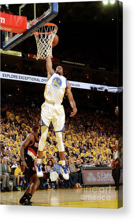 Playoffs Acrylic Print featuring the photograph Andre Iguodala by Noah Graham