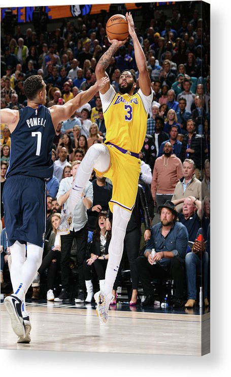 Nba Pro Basketball Acrylic Print featuring the photograph Anthony Davis by Glenn James