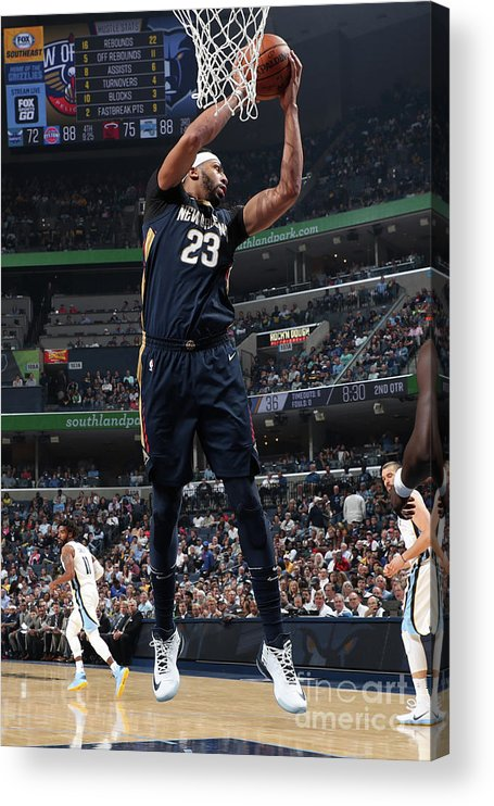 Nba Pro Basketball Acrylic Print featuring the photograph Anthony Davis by Joe Murphy