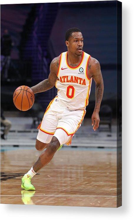 Nba Pro Basketball Acrylic Print featuring the photograph Atlanta Hawks v Charlotte Hornets by Brock Williams-Smith