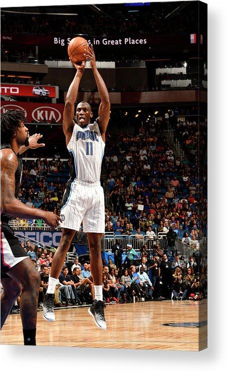 Nba Pro Basketball Acrylic Print featuring the photograph Bismack Biyombo by Fernando Medina