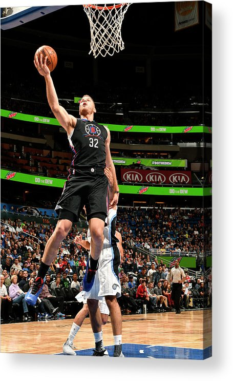 Nba Pro Basketball Acrylic Print featuring the photograph Blake Griffin by Fernando Medina