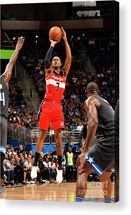 Nba Pro Basketball Acrylic Print featuring the photograph Bradley Beal by Fernando Medina