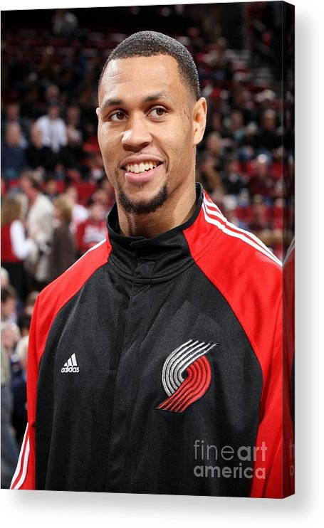 Nba Pro Basketball Acrylic Print featuring the photograph Brandon Roy by Sam Forencich