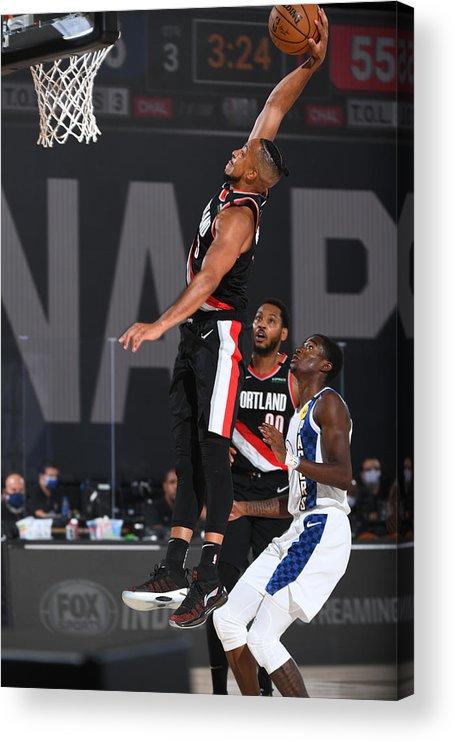 Nba Pro Basketball Acrylic Print featuring the photograph C.j. Mccollum by Garrett Ellwood